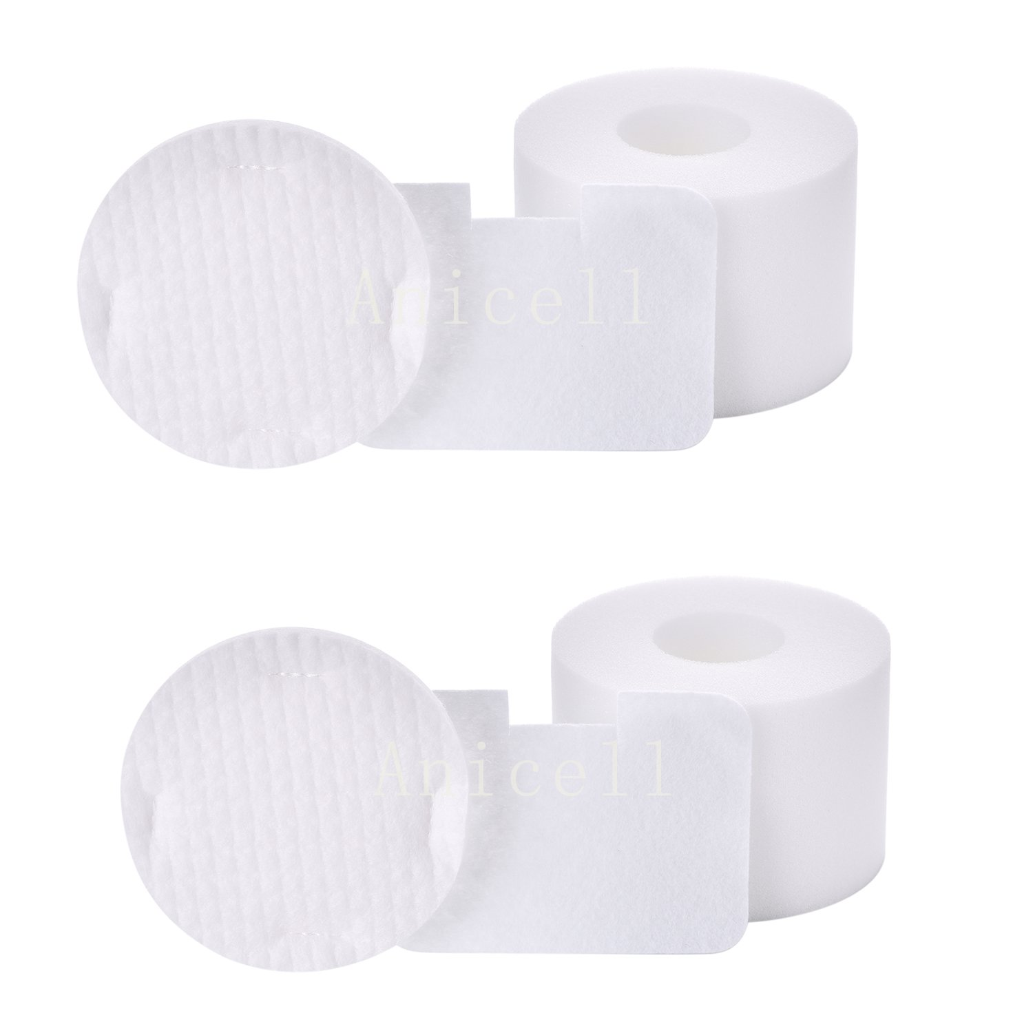 Anicell 2 Pack Foam & Felt Filter Kit for Shark NV42 Deluxe Upright Vac Vacuum Cleaner, Part #XFF36 Designed & Engineered