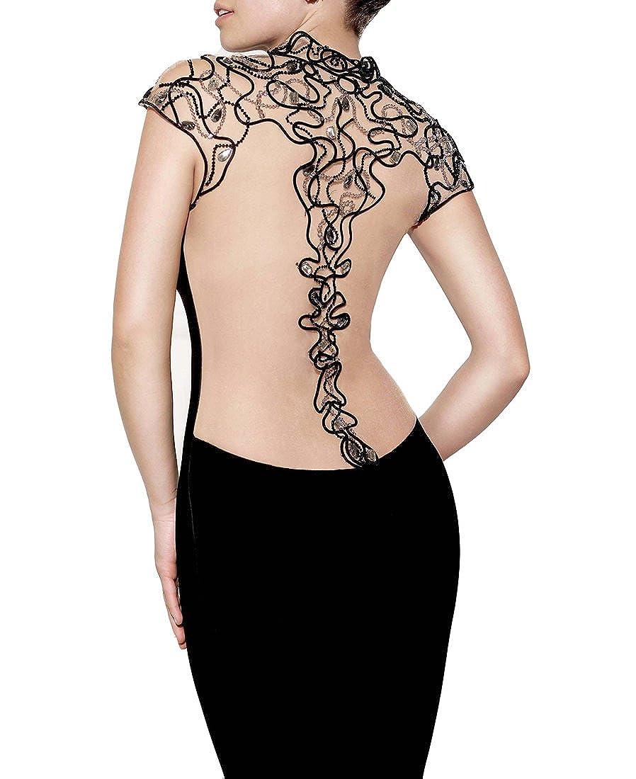 Emmani Fashion Cheap Long Mermaid Sleeveless New Night Black Chiffon Homecoming Celebrity Prom Party Evening Wedding Bridesmaid Fancy Ball Gowns Skirts ...