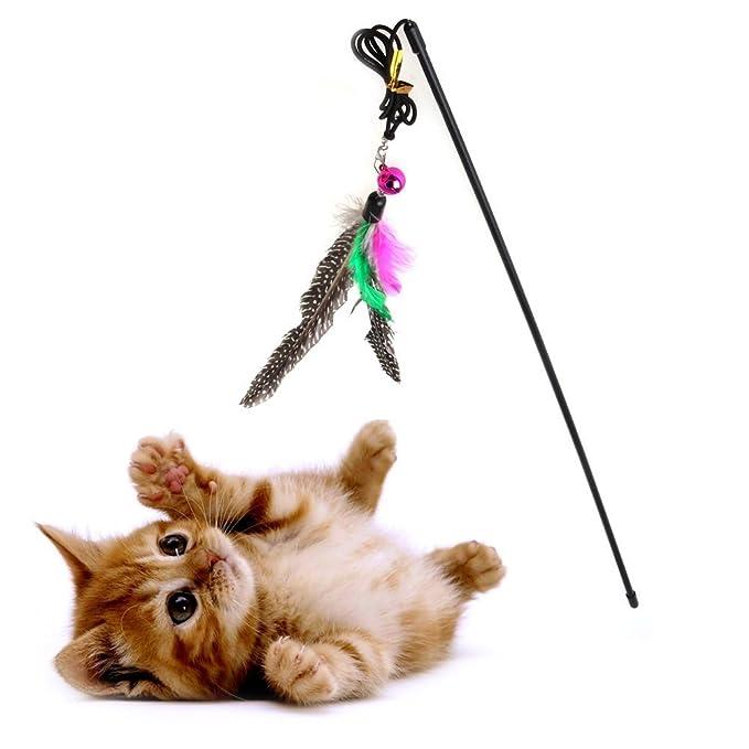 ... caña de entrenamiento, caña de pescar, juguete de perlas naturales puras, plumas de pájaros grandes, juguetes para hacer ejercicio al gato o gato, ...