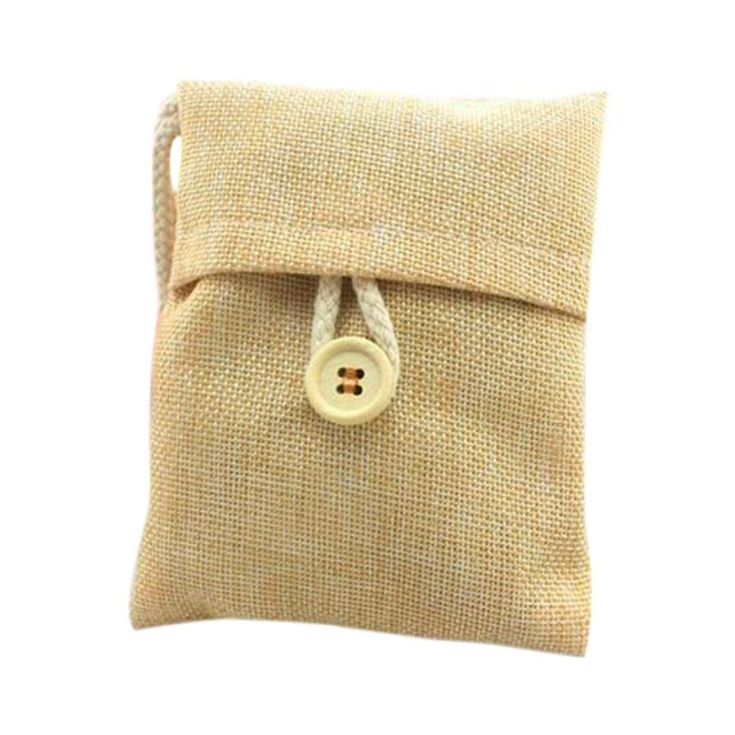 Tpingfe Natural Bamboo Charcoal Activated Carbon Air Freshener Odor Deodorant Bag for Car Room Fridge Wardrobe, 1pc (Beige)
