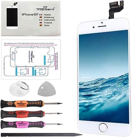 Trop Saint® Pantalla Blanco para iPhone 6S Plus Completa Premium ...