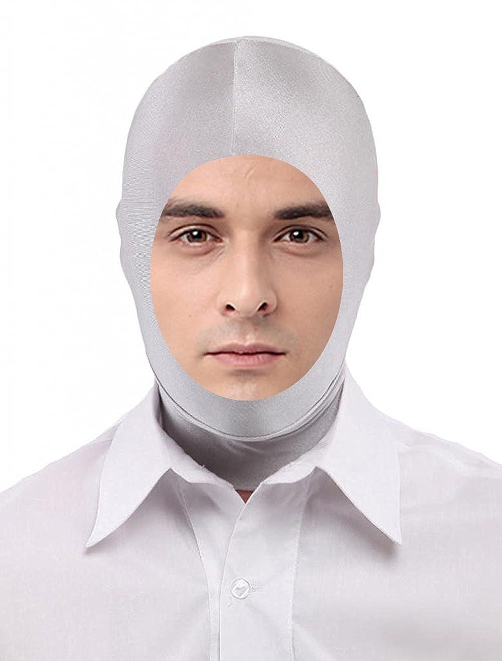 Seeksmile Unisex Lycra Spandex Zentai Hood Mask