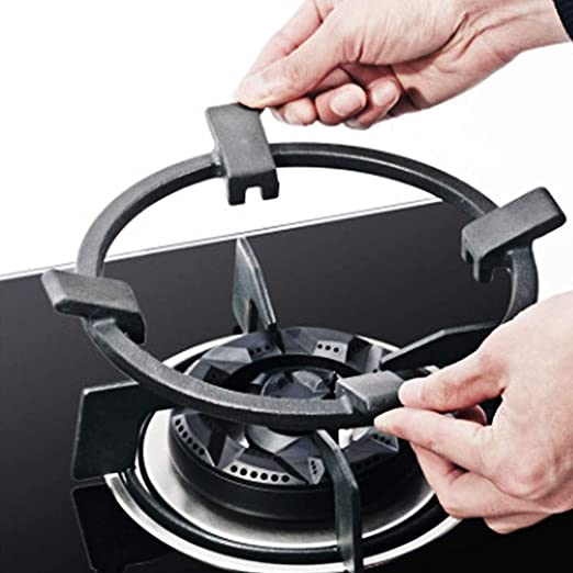 Amazon.com: zzJiaCzs Kitchen Iron Wok Pan Support Rack Ring ...