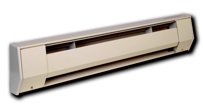 1000-750-Watt 240-208-Volt King Electric 4K2410BW K Series Baseboard Heater 4-Foot Bright White