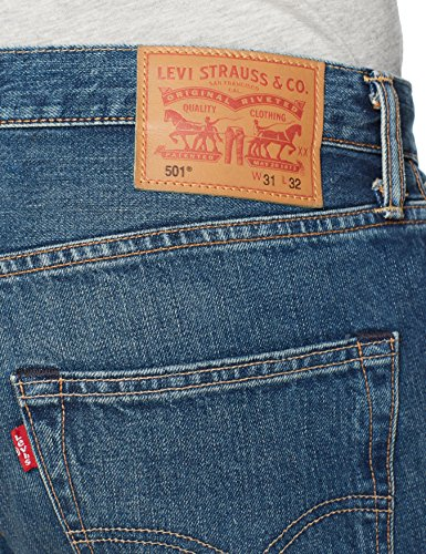 Levi's 501 hook Jeans Fit Uomo 1307 Original Straight Blu PPwdFqr7