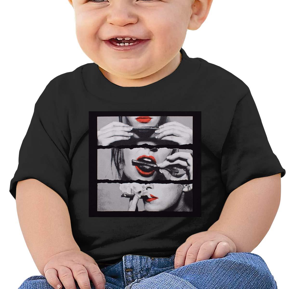MONIKAL Unisex Infant Short Sleeve T-Shirt MainPhoto Toddler Kids Organic Cotton Graphic Tee Tops