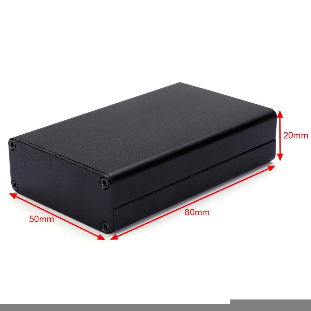 Lighting Accessories Back To Search Resultslights & Lighting Black Aluminum Pcb Instrument Box Extruded Enclosure Diy Electronic Project Case 80x50x20mm