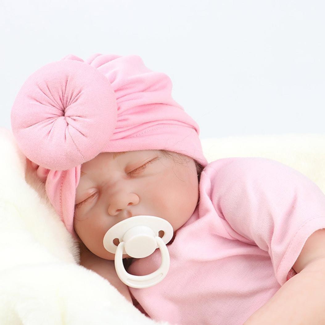 Black HUHU833 Baby Hats Baby Turban Toddler Kids Boy Girl India Hat Lovely Soft Hat