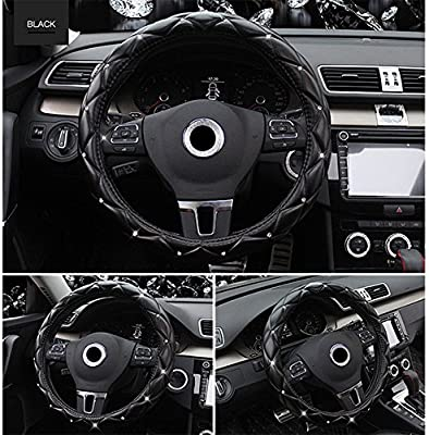 Amazon.com: Car Steering Wheel Cover piel PU, eclear ...