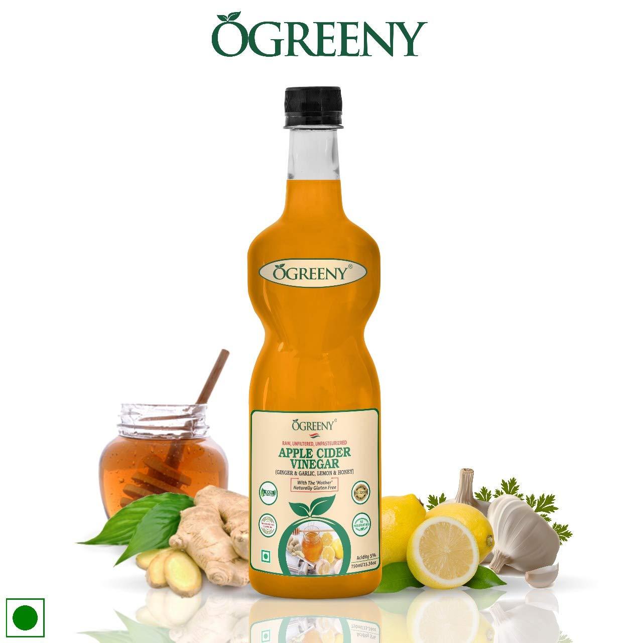 Ogreeny Apple Cider Vinegar Garlic Ginger Lemon And Honey
