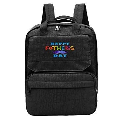 hot sale Kuswaq Happy Father's Day Women's Fashion Backpack College Daypacks For Adult Black