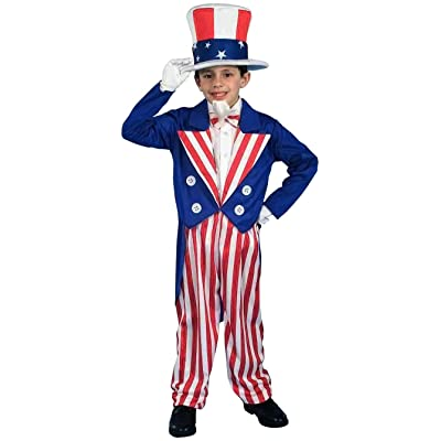 Forum Novelties Patriotic Party Uncle Sam Costume, Child Large: Toys & Games