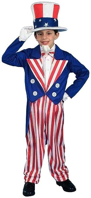 Forum Novelties Patriotic Party Uncle Sam Costume, Child Medium