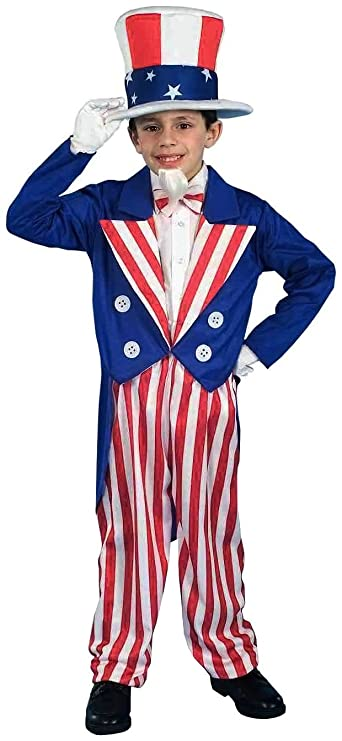 Forum Novelties Deluxe Uncle Sam Costume, Child Small
