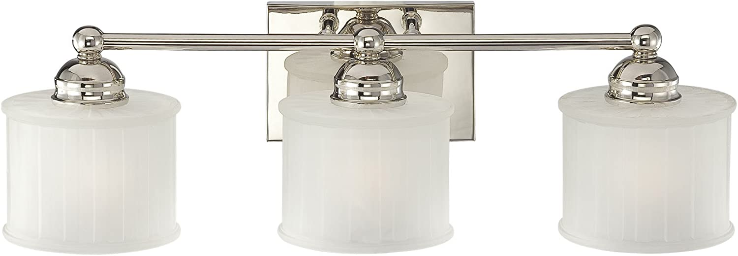 Minka Lavery 6733-1-613 1730 Series 3-Light Bath in Nickel
