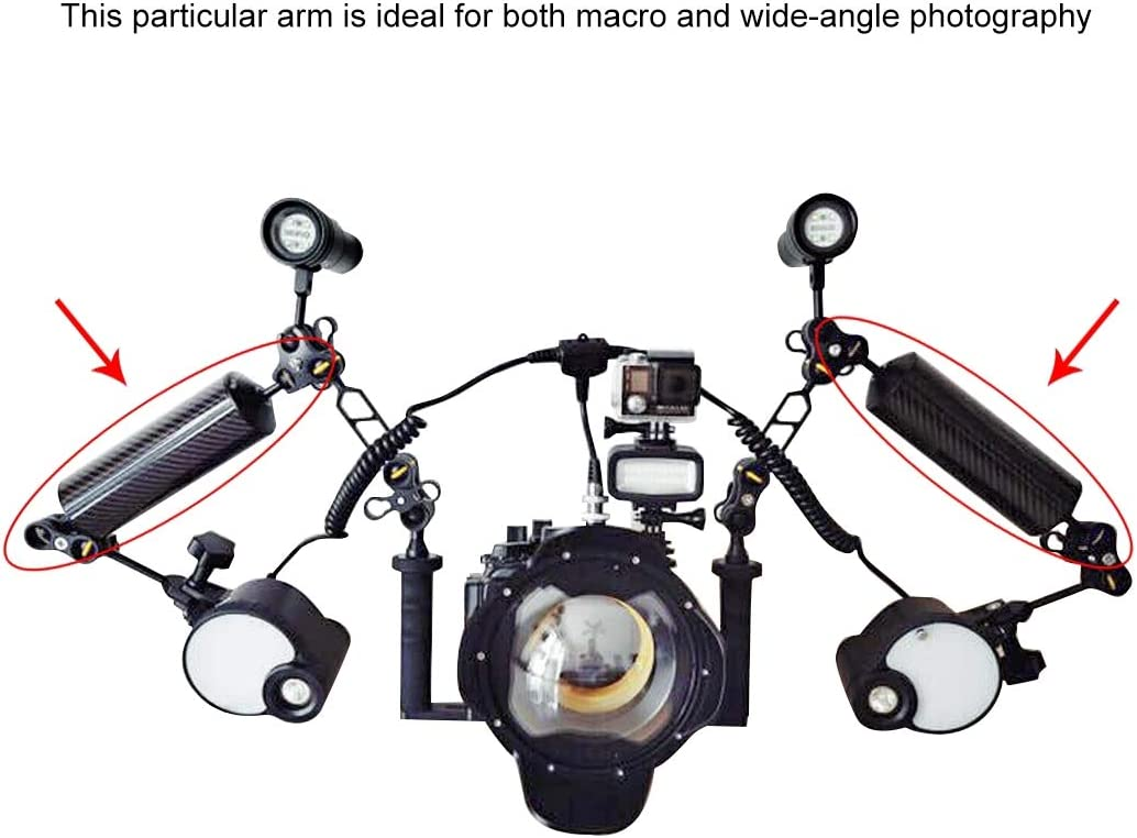 25mm HUANGMENG Diving 12.79 inch 32.5cm Length 60mm Diameter Dual Balls Carbon Fiber Floating Arm 400g HUANGMENG Ball Diameter Buoyancy