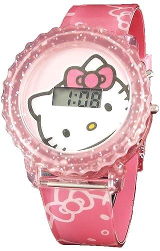Hello Kitty para niña de luz digital hasta reloj hk4000: Amazon.es: Relojes