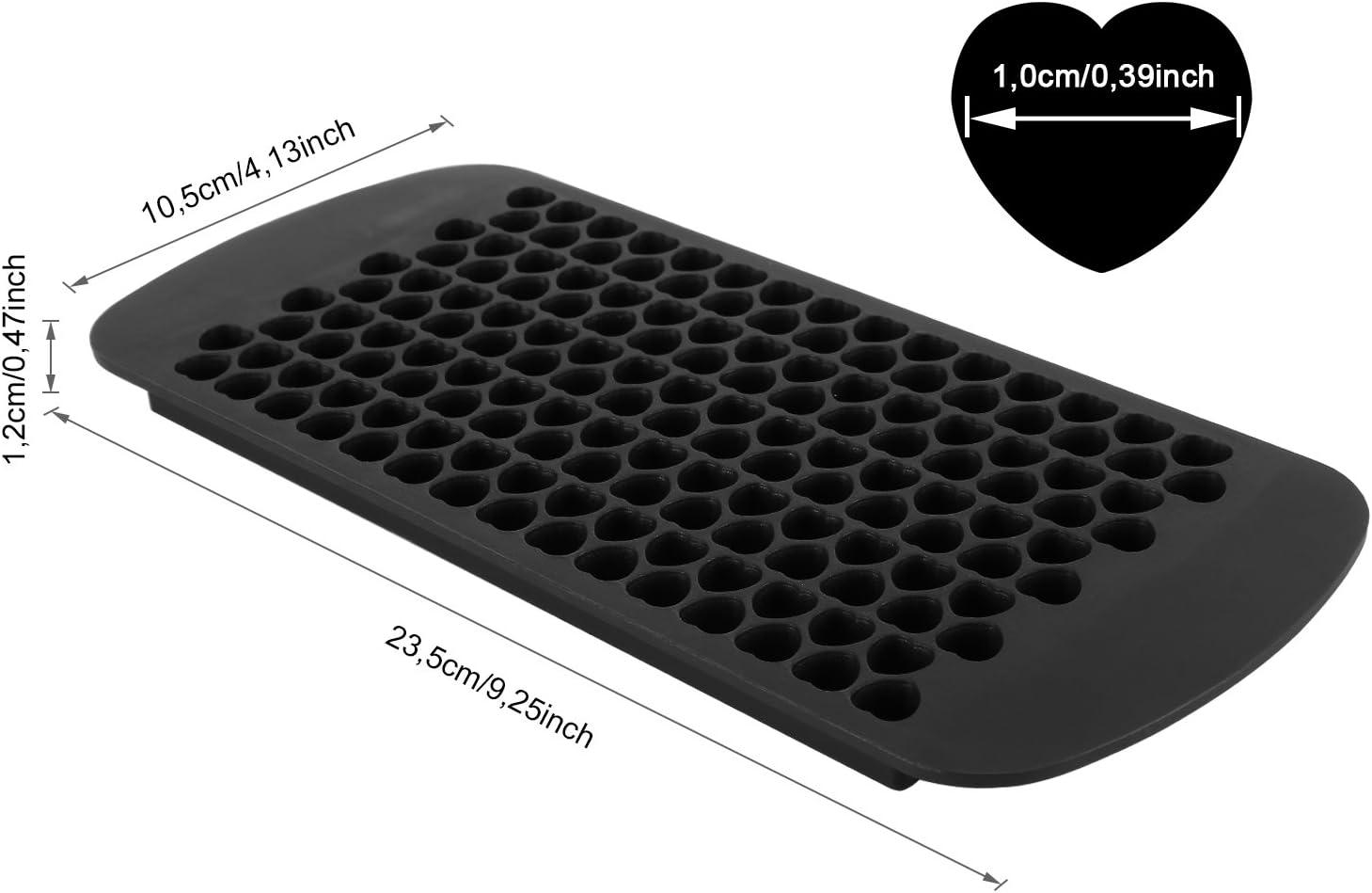 2x 150 Mini gla/çons Belmalia 2x Moule en silicone pour c/œurs de glace cube 24 x 11 x 1 cm noir