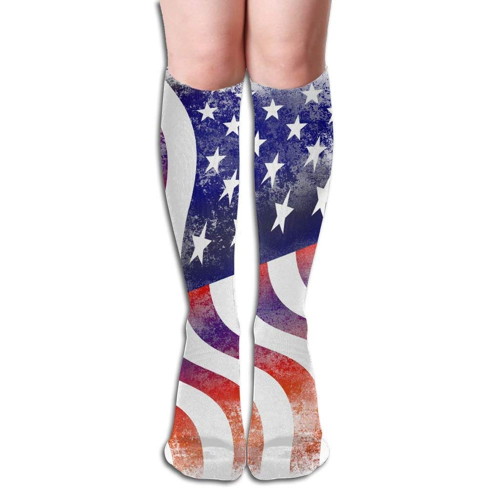Compression Socks Morocco Flag Girl Full Socks Long Socks Knee High Socks Long 50cm)