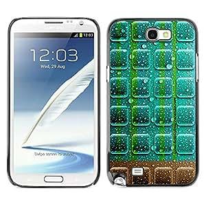 TopCaseStore / la caja del caucho duro de la cubierta de protección de la piel - Neon Chocolate - Samsung Galaxy Note 2 N7100