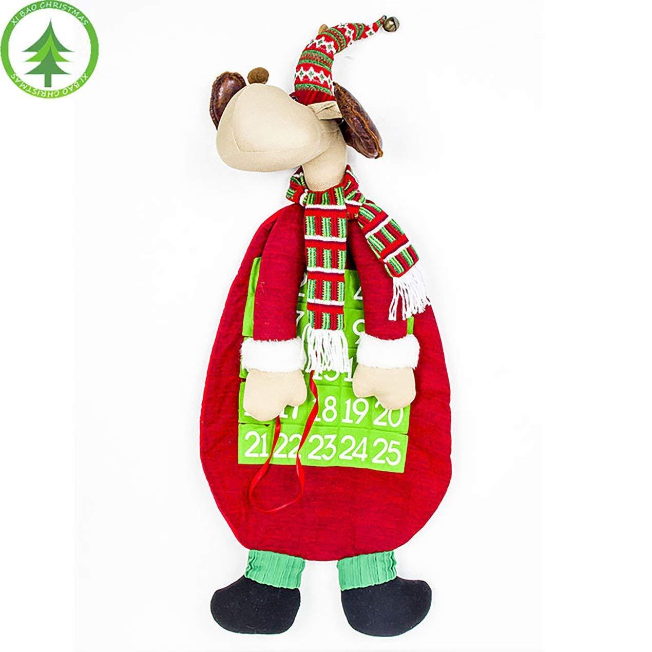 Weihnachtsdekor Kalender Kreative Cartoon Schneemann Elch Tuch Kalender Puppe Spielzeug Dekorationen Hause Hängende Verzierung