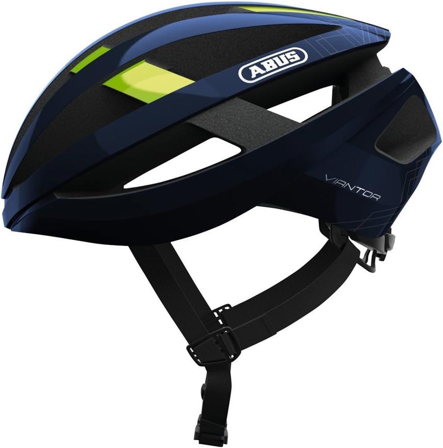 ABUS ヘルメット VIANTOR(ヴィアントー) ロードヘルメット 軽量エントリーモデル モビスターチームカラー(ブルー) Lサイズ 【日本正規品/2年間保証】