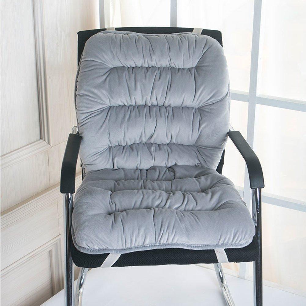 Cojín caliente de la silla del invierno, cojín de de cena de de la silla, cojín de espesamiento de la oficina-C 45cn90cm a27e39