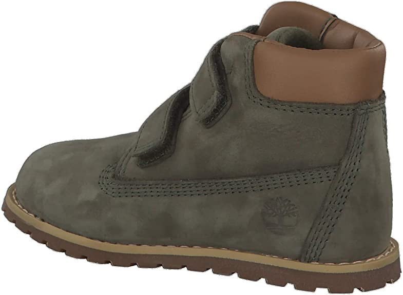 Timberland Pokey Pine Hook & Loop Dark Green Nubuck Infant Ankle Boots