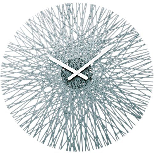 koziol SILK Clock transparent anthracite