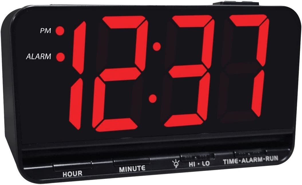 Jumbo Display Digital Alarm Clock with 3-inch LED