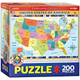 united states america - EuroGraphics Map of the United States of America Jigsaw Puzzle (200-Piece)
