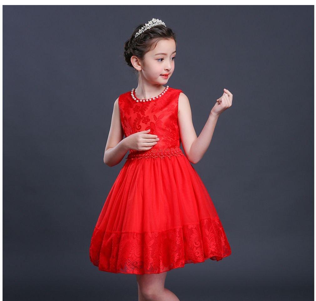 SAYM 11795 Little Girls de una pieza princesa Verano sin mangas ...