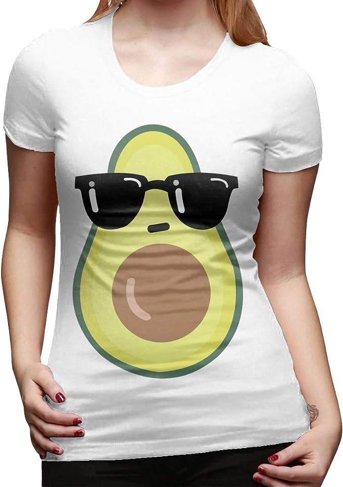 Cool Avocado - Camiseta de Manga Corta para Mujer: Amazon.es: Ropa y accesorios