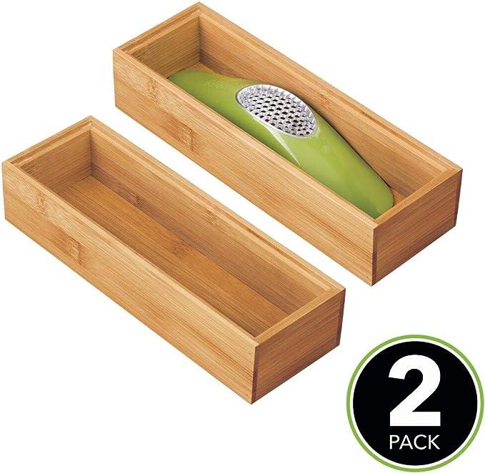 mDesign Juego de 2 separadores de cajones para la cocina ...