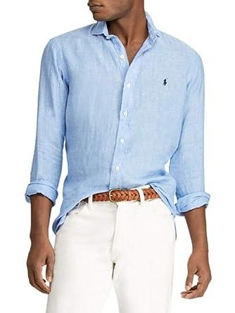 809ed5836b55 Image Unavailable. Image not available for. Color: Polo Ralph Lauren Men's  Classic Fit Linen Shirt ...