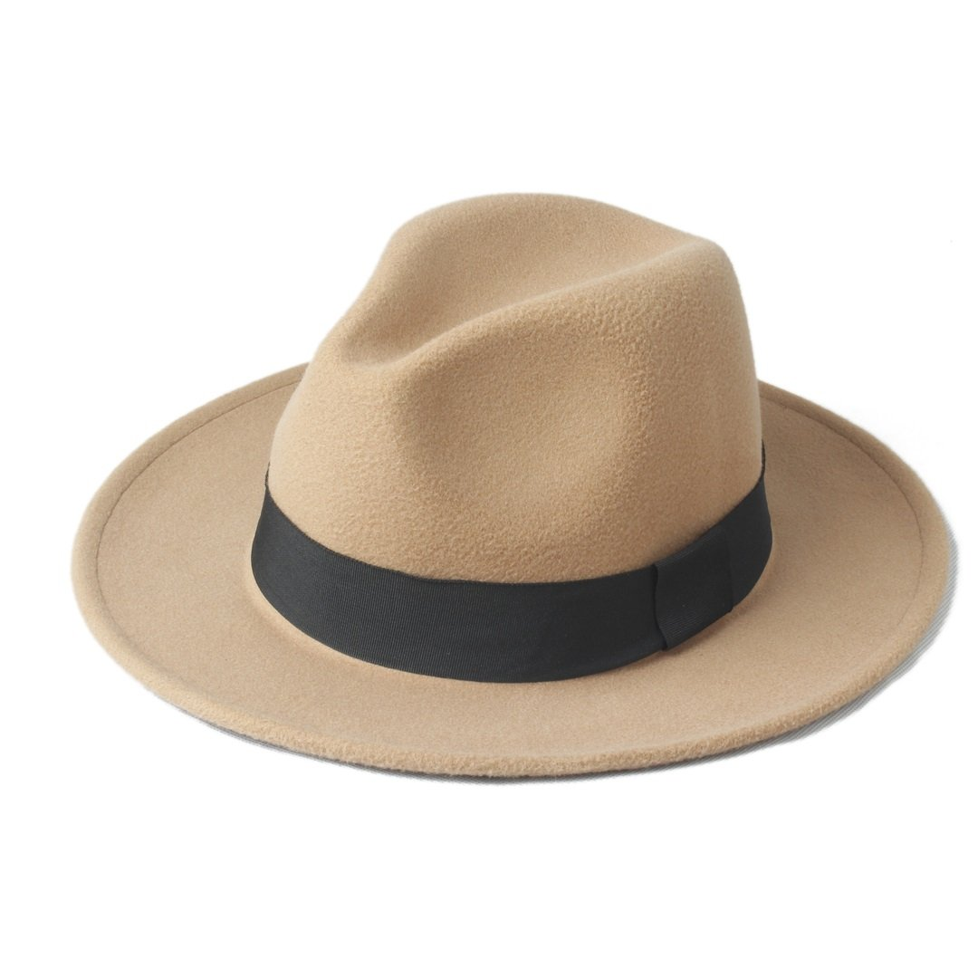 Best Choise Berretto a tesa larga lana invernale Cappello berretto a fedora donna Panama Cappello berretto a feltro Sombrero Cappello donna trilby per signore / signori per Multi Occasioni ( Color : 10 , Size : 56-58cm )