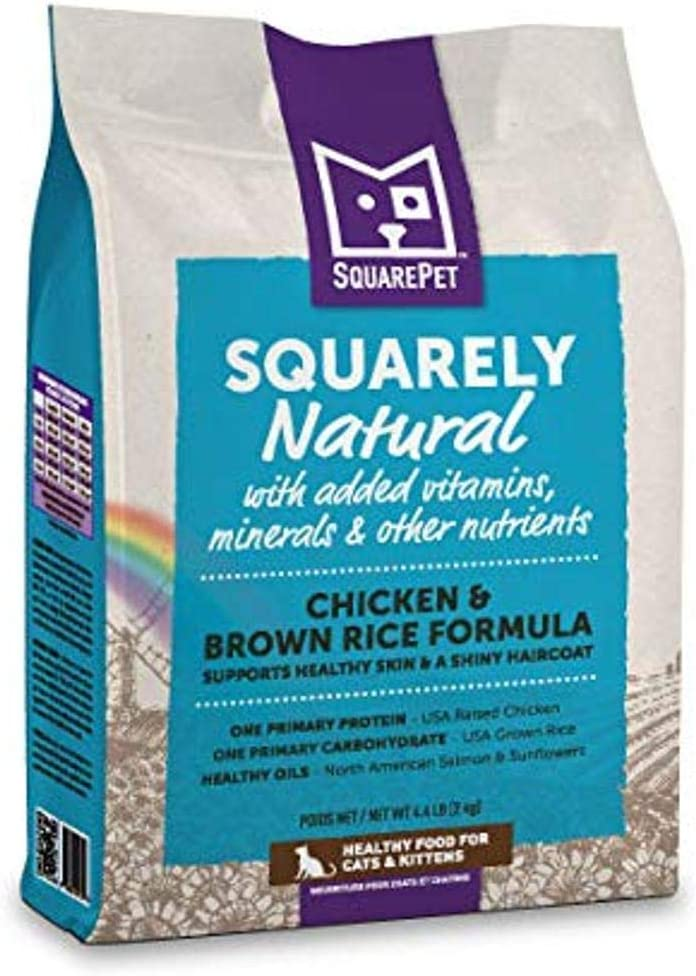 SquarePet Squarely Natural Chicken & Brown Rice Dry Cat Food