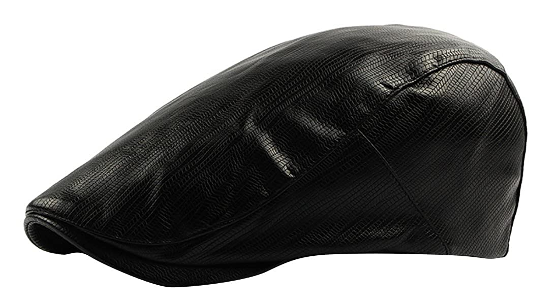 JYR gorra de béisbol de cuero de la PU de moda plana Cap Gorras de visera de Inglaterra clásico de los delanteros - azul marino: Amazon.es: Ropa y ...