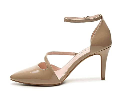 Chinese Toe Laundry Womens Rocking Pointed Toe Chinese Ankle Strap Dorsay Nude Size 8.0 9b976e