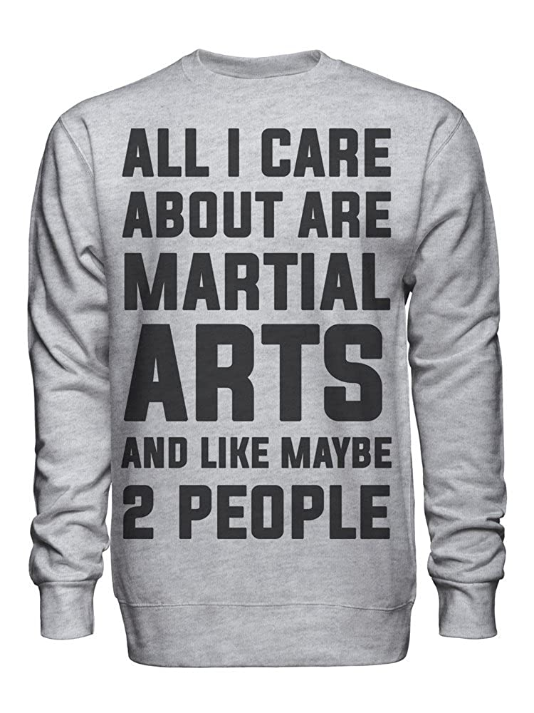 graphke All I Care About are Martial Arts and Like Maybe 2 People Unisex Crew Neck Sweatshirt
