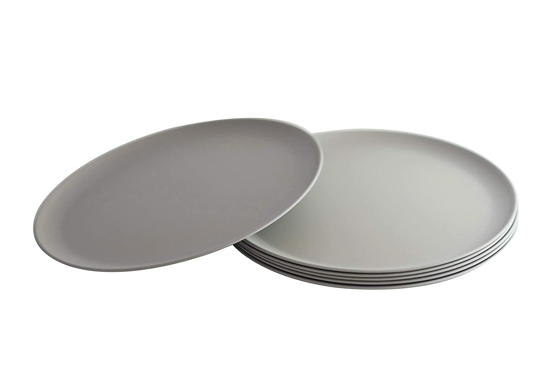 Natura Green- Bamboo Plates- Set of 6-10 inches (Gray)