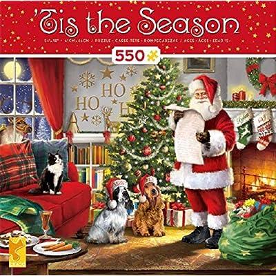 Tis The Season Naughty & Nice Puzzle - 550Piece: Toys & Games