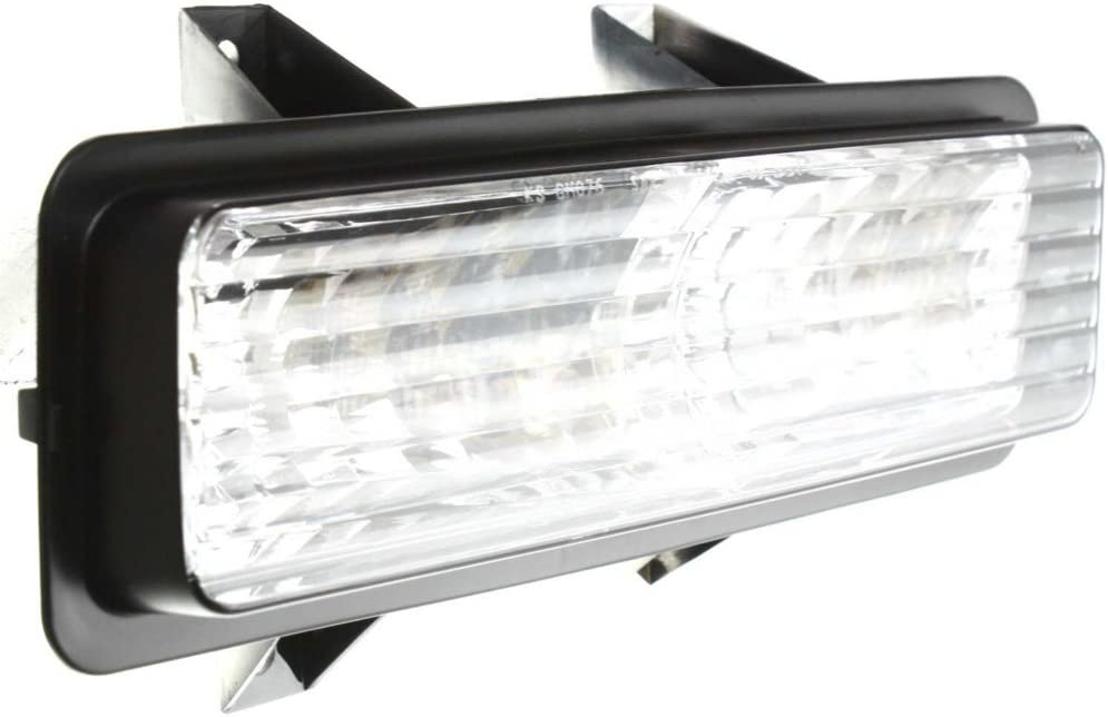 Park Lamp compatible with Chevrolet Suburban 89-91 Van Full Size 92-96 Right Lens and Housing Below Dual Head Lamps