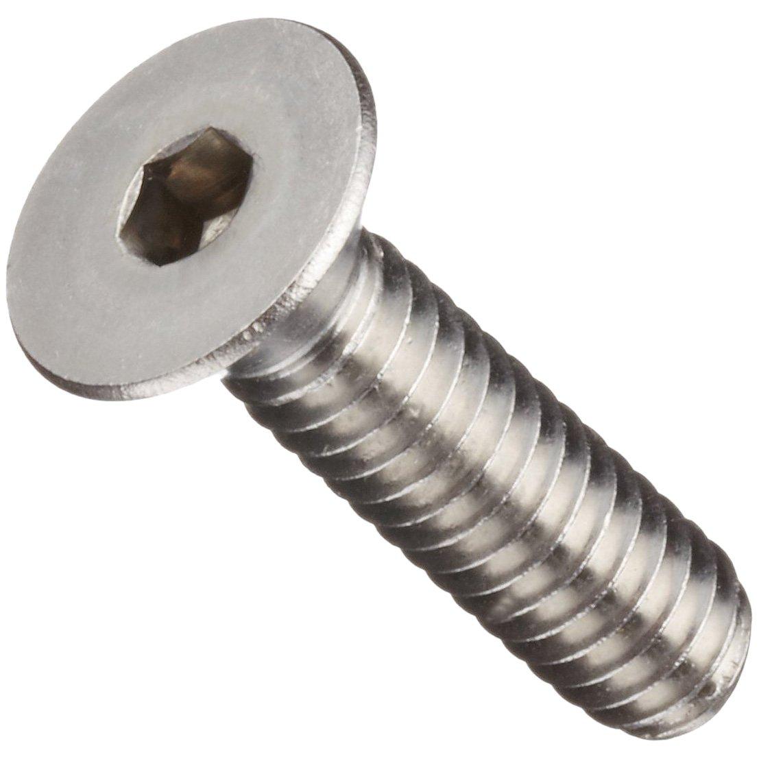 18-8 Stainless Steel Socket Cap Screw, Flat Head, Hex Socket Drive, Meets ASME B18.3/ASTM F879, 1/2'' Length, Fully Threaded, 5/16''-18 Threads (Pack of 100)