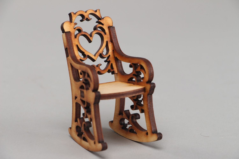 Handmade Plywood Craft Blank Rocking Chair