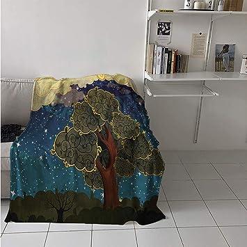 Amazon.com: Maisi - Manta con flores de limón y leña, para ...