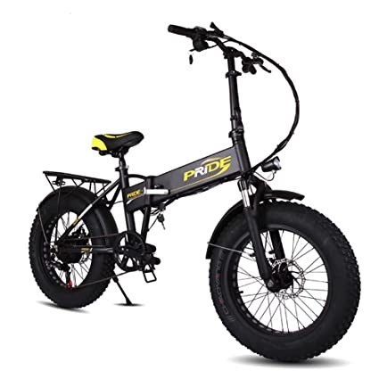 Amazon.com : Pride Folding Electric Mountain Bike with 20 Inch Fat ...