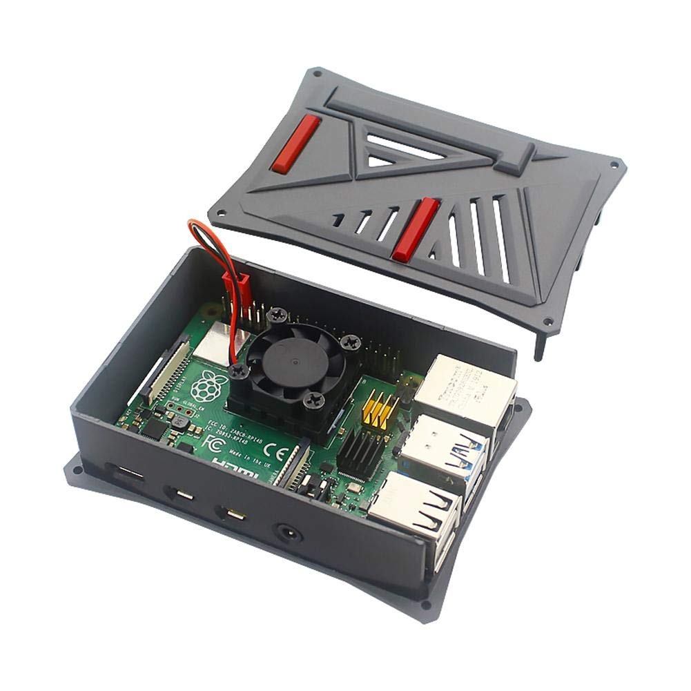 Raspberry Case for New Raspberry Pi 4 Model B ABS Case Plastic Shell with Cooling Fan for Raspberry Pi 1G 2G 4G