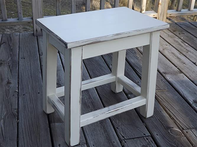 distressed white wood furniture. Distressed White Wood Side Table - Small End Furniture