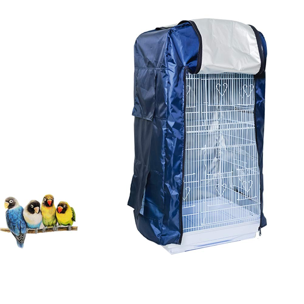 QBLEEV Bird Cage Covers, Large Birdcage Cover, Warm Windproof Waterproof Shell Shield for Square Cage Crate by QBLEEV